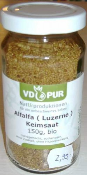 Alfalfa- Keimsaat, 200g, XL Pack, Bio