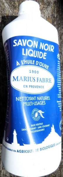 schwarze Olivenölseife flüssig, Savon de Marseille,1 l