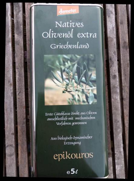 Olivenöl Bio griech. , 5 l Kanister, Roh