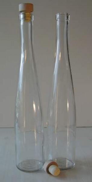 Glasflasche mit Holzkorken